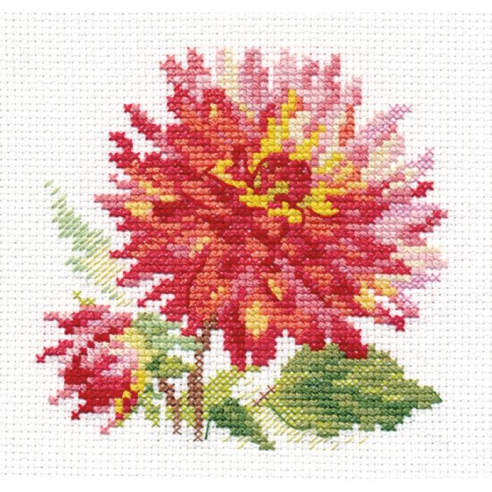 Набор для вышивания АЛИСА арт.0-139 Георгин 10х10 см