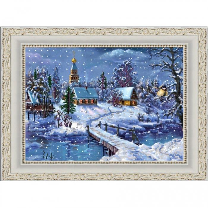 Рисунок на ткани (Бисер) КОНЁК арт. 9845 Под голубыми небесами 29х39 см