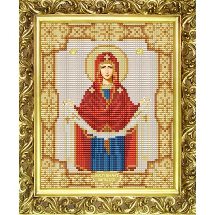 Рисунок на ткани (Бисер) КОНЁК арт. 9123 Богородица Покрова 15х18 см