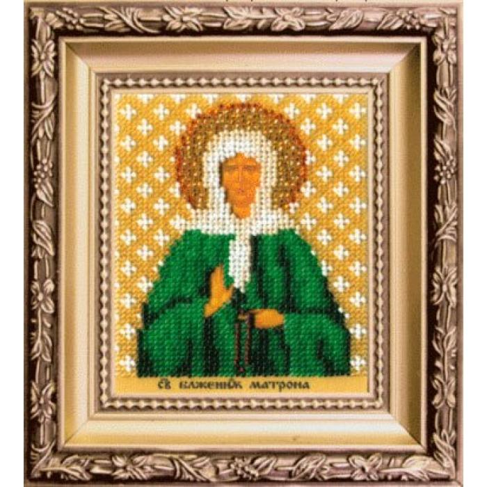 Набор для вышивания бисером ЧАРИВНА МИТЬ арт.Б-1217 Икона святой блаженой Матроны Московской 9х11 см