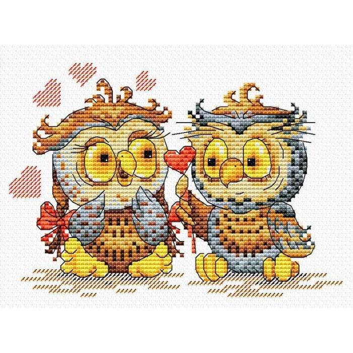 Набор для вышивания ЖАР-ПТИЦА арт.М-087 Окрыленные любовью 15х18 см