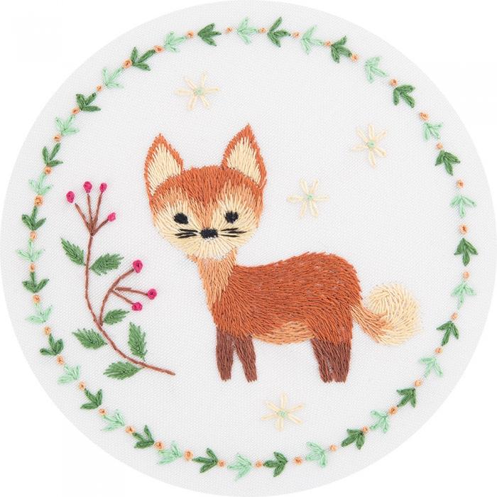 """Набор для вышивания PANNA """"Живая картина"""" арт. JK-2130 Рыжая лисичка 10х10 см"""