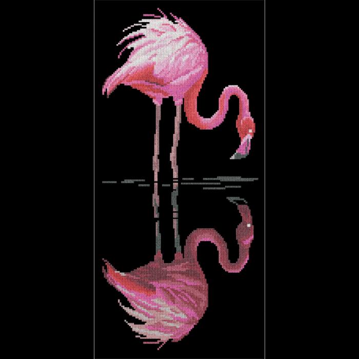 Набор для вышивания мулине НИТЕКС арт.0020 Фламинго 22х39 см