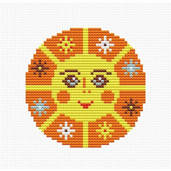 Набор для вышивания LUCA-S арт. B093 Солнце 8,5х8,5 см