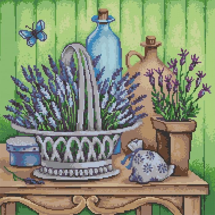 Рисунок на канве КОНЁК арт. 7806 Лаванда 40х40 см