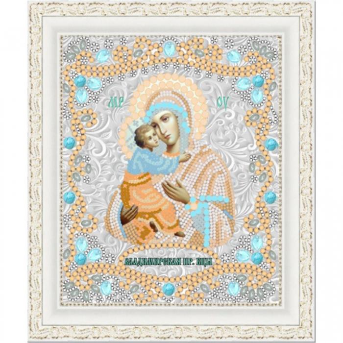 Рисунок на ткани (Бисер) КОНЁК арт. 7124 Богородица Владимирская 15х18 см
