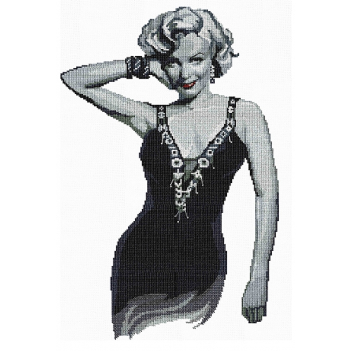 Набор для вышивания мулине НИТЕКС арт.0077 Мэрилин Монро 29х44 см