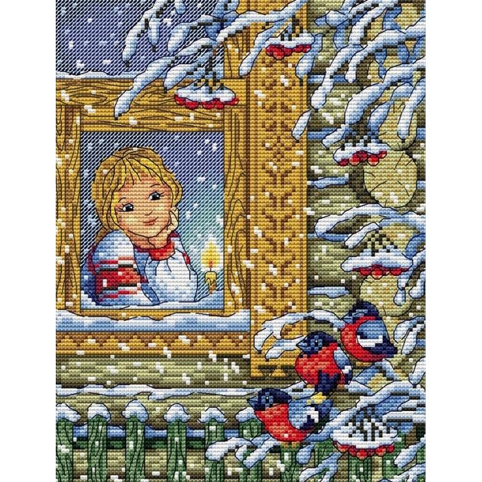 Набор для вышивания ЖАР-ПТИЦА арт.М-124 Зимний вечер 23х18 см