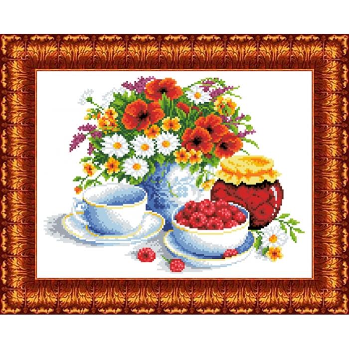 Канва с нанесенным рисунком КАРОЛИНКА арт. КК-051 Летний натюрморт 23х30 см