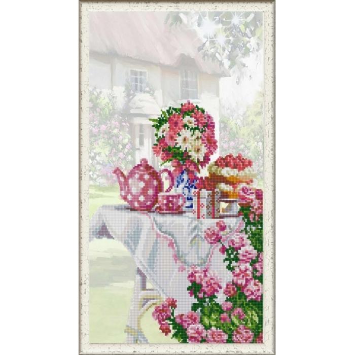 Рисунок на ткани (Бисер) КОНЁК арт. 1276 Праздник на даче 25х45 см