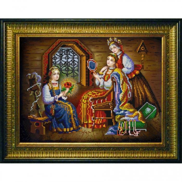 Рисунок на ткани (Бисер) КОНЁК арт. 9829 Три девицы 29х39 см