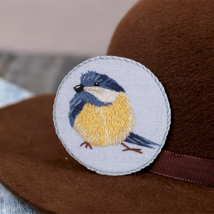 """Набор для вышивания PANNA """"Живая картина"""" арт. JK-2165 Брошь. Синичка 6,5х6,5 см"""