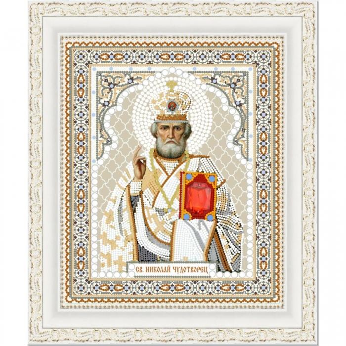 Рисунок на ткани (Бисер) КОНЁК арт. 7106 Св. Николай Чудотворец 20х25 см