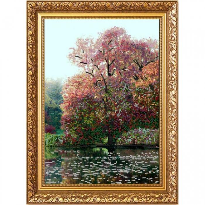 Рисунок на ткани (Бисер) КОНЁК арт. 1213 Дерево на воде (Клод Моне) 29х39 см
