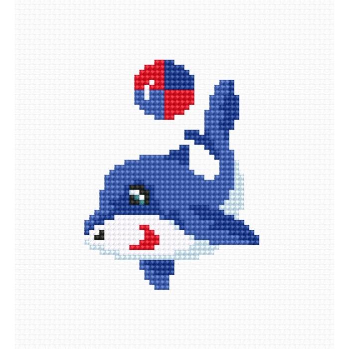 Набор для вышивания LUCA-S арт. B095 Дельфин 6,5х8,5 см