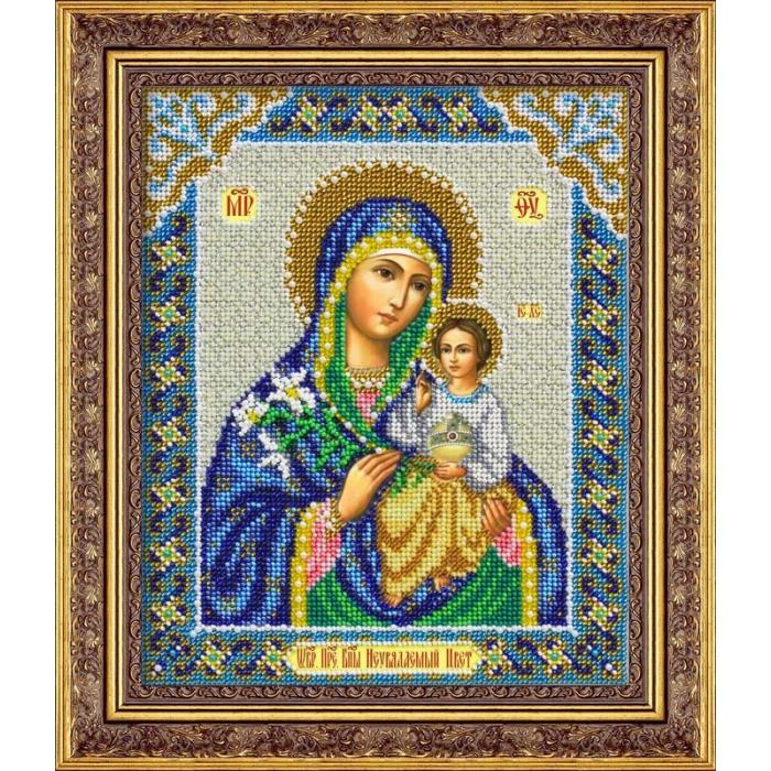 Набор для вышивания бисером ПАУТИНКА арт.Б-1044 Пр.Богородица Неувядаемый цвет 20х25 см