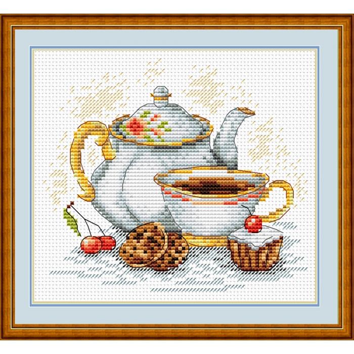 Набор для вышивания ЖАР-ПТИЦА арт.М-092 Утренний чай 15х15 см
