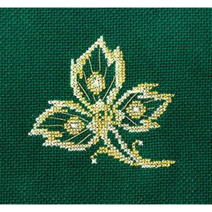 Набор для вышивания СДЕЛАЙ СВОИМИ РУКАМИ арт.З-24 Золотые украшения.Лист 12х12 см