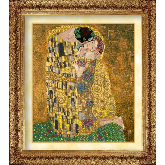 Набор для вышивания бисером РУССКАЯ ИСКУСНИЦА арт.1033 Поцелуй 31х26см