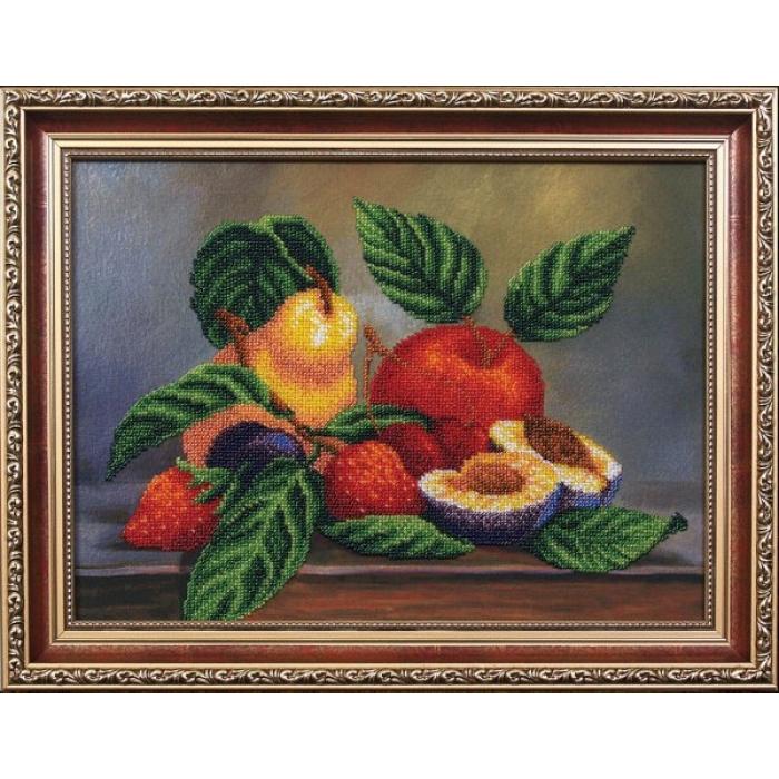 Набор для вышивания бисером МАГИЯ КАНВЫ арт.Б073 Ассорти фруктов 34х25 см