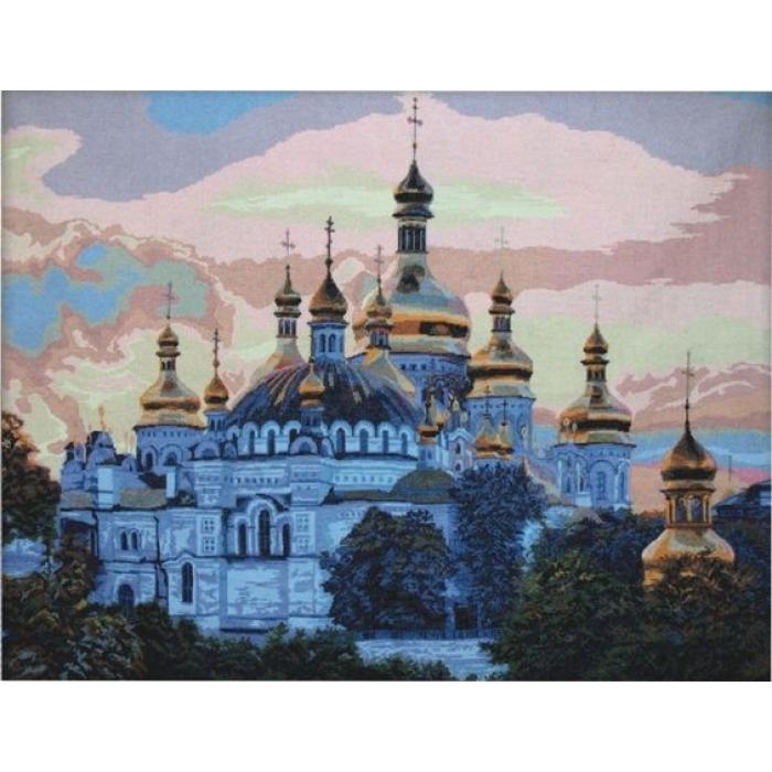 Набор для вышивания мулине НИТЕКС арт.0034 Киевская Лавра 100х75 см