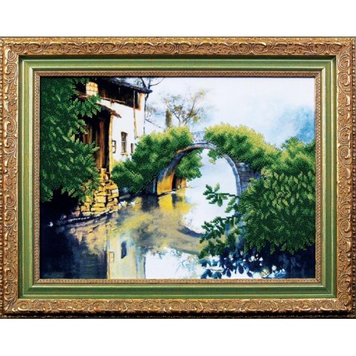 Набор для вышивания бисером МАГИЯ КАНВЫ арт.Б049 Зеленый мостик 42х33 см