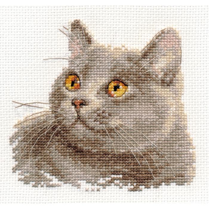 Набор для вышивания АЛИСА арт.0-134 Британский кот 12х11 см