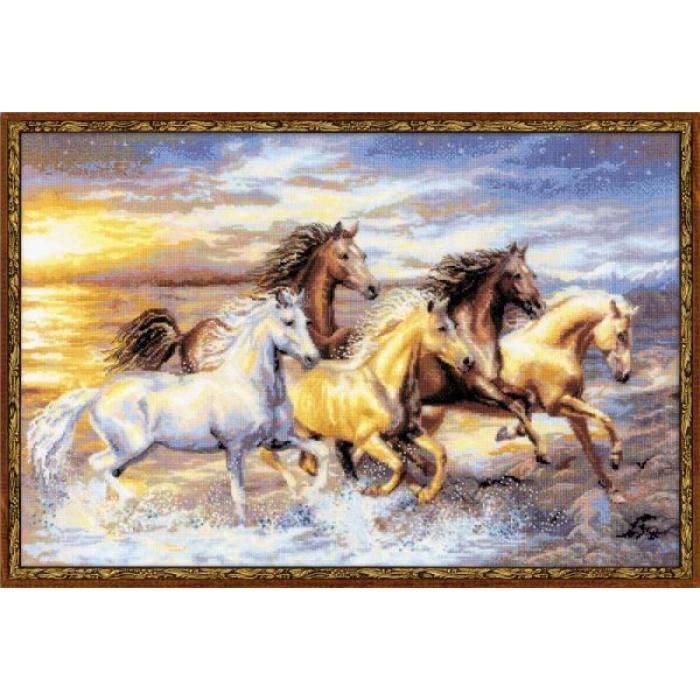 Набор для вышивания РИОЛИС арт.100/038 В лучах заката 60х40 см