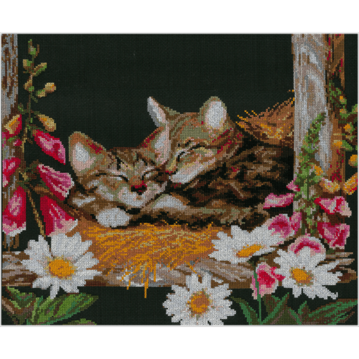Набор для вышивания мулине НИТЕКС арт.0026 Идиллия 40х35 см