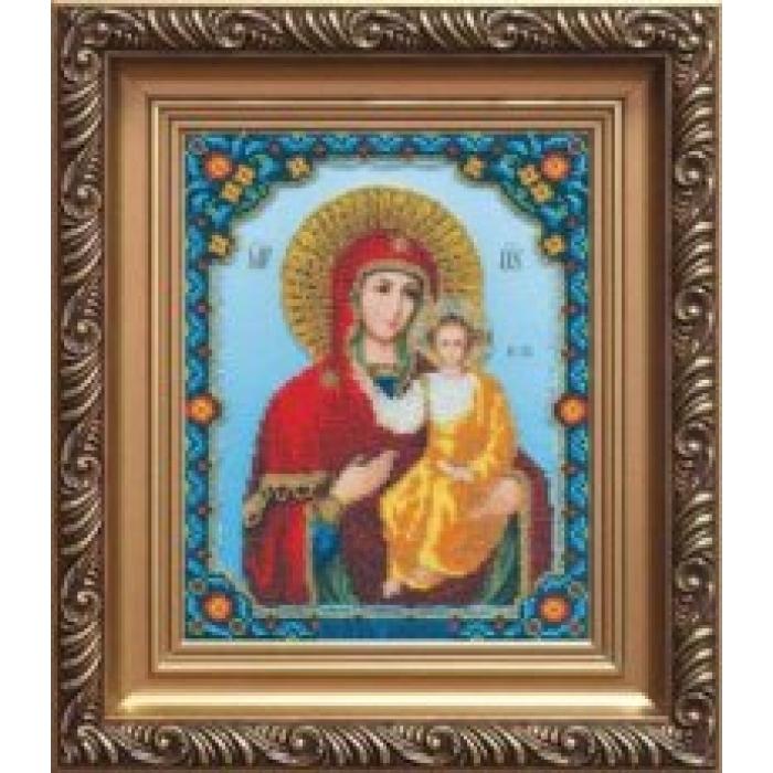 Набор для вышивания бисером ЧАРИВНА МИТЬ арт.Б-1022 Божья Матерь Смоленская 18х22,5 см