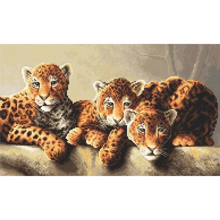Набор для вышивания LETI арт. 910 Леопарды 31х19 см