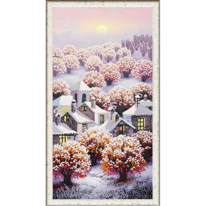 Рисунок на ткани (Бисер) КОНЁК арт. 8422 Чаровница Зима 25х45 см