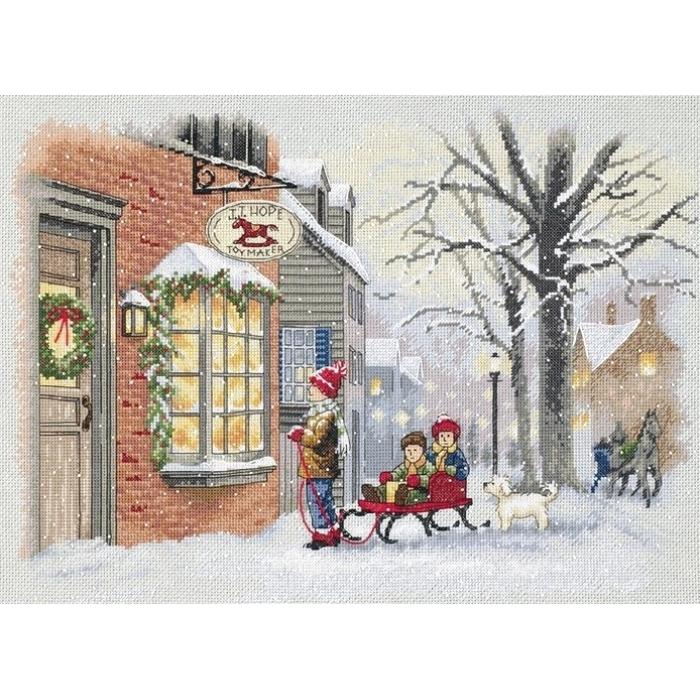 """Набор для вышивания Classic Design арт.4360 """"Новогоднее желание"""" 36х26 см"""