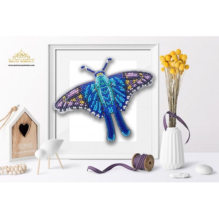 Пластиковая перфорированная основа БЛАГОВЕСТ арт.БС-047 3-D Бабочка. Terinos Terpander 10х12 см
