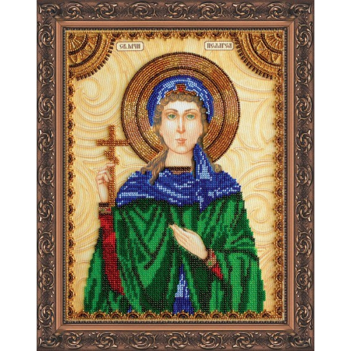 Набор для вышивания бисером АБРИС АРТ арт. AA-080 Святая Пелагея 23х30 см