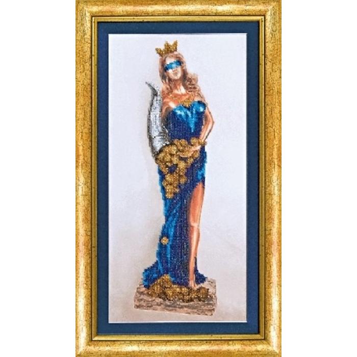 Набор для вышивания бисером ЧАРИВНА МИТЬ арт.Б-639 Богиня удачи Фортуна 19х40 см