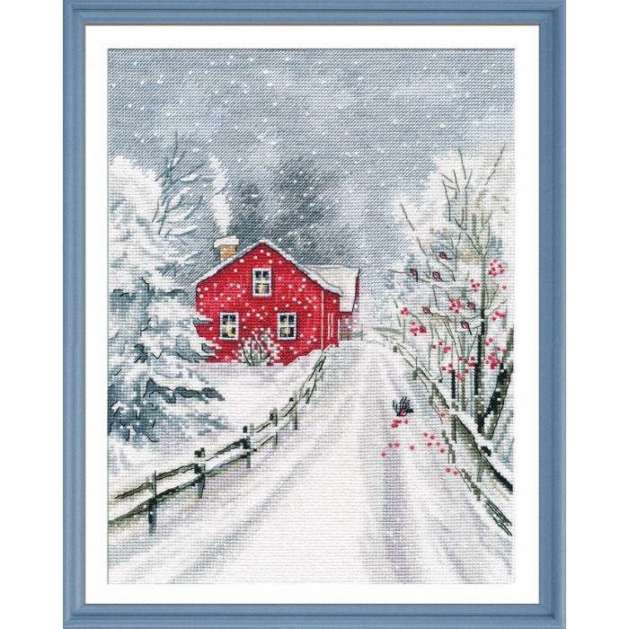 Набор для вышивания ОВЕН арт. 1241 Чародейка зима 20х27см