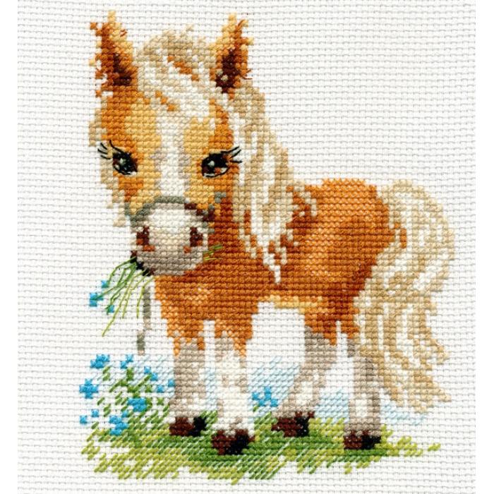Набор для вышивания АЛИСА арт.0-114 Белогривая лошадка 12х14 см