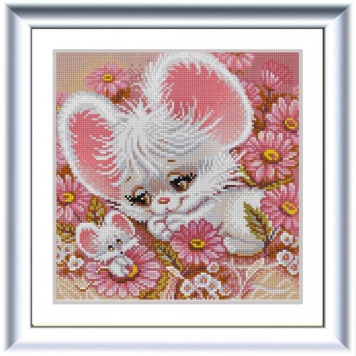 Рисунок на ткани (Бисер) КОНЁК арт. 1318 Мышки-нарушки 25х25 см
