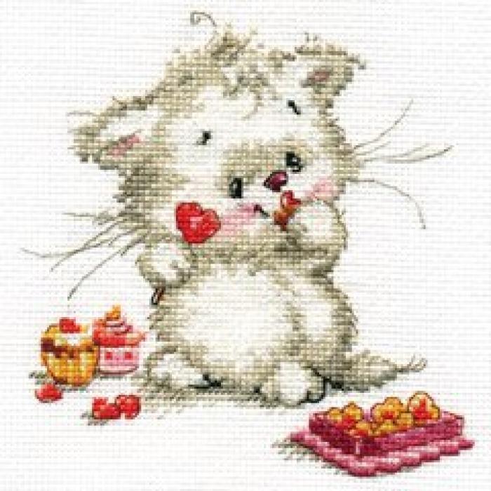 Набор для вышивания АЛИСА арт.0-123 Сладкая конфетка 13х13 см