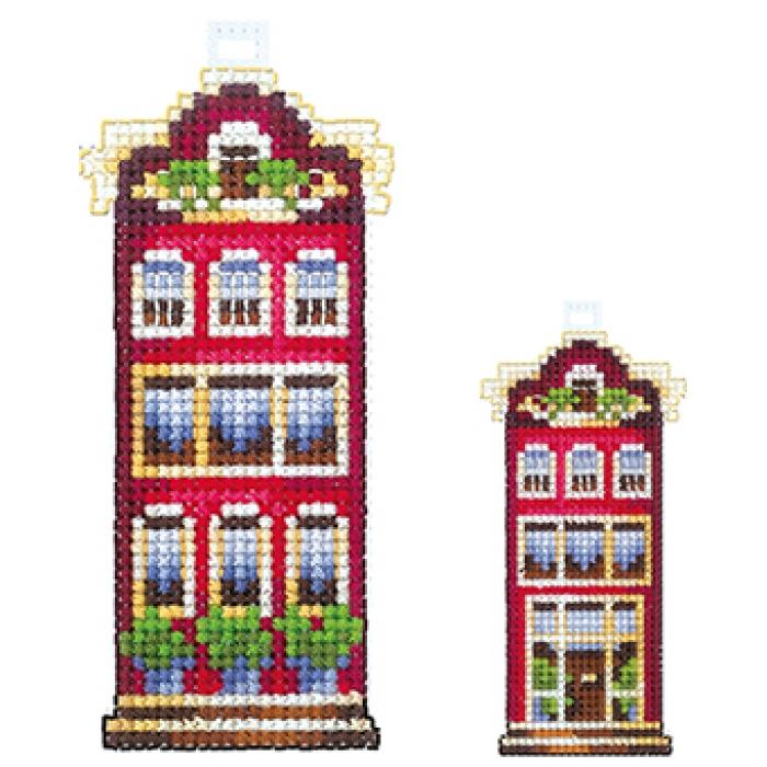 Набор для вышивания СДЕЛАЙ СВОИМИ РУКАМИ арт.Д-13 Домики.Красный домик 5х12см