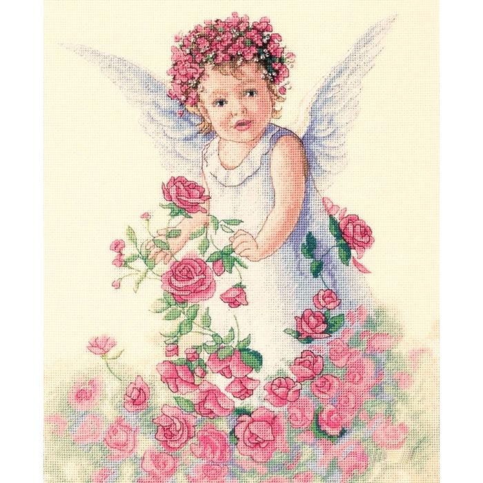 "Набор для вышивания Classic Design арт.4327 ""Ангел роз"" 32х35 см"