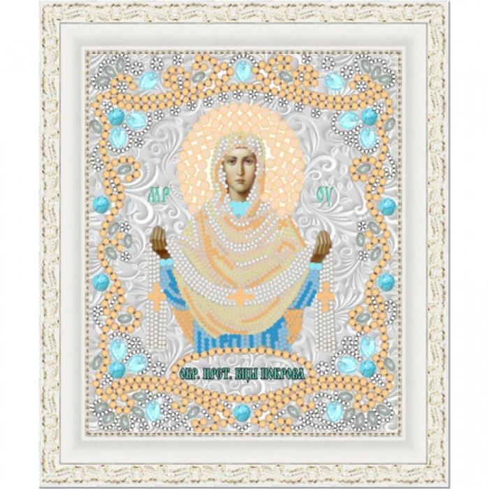 Рисунок на ткани (Бисер) КОНЁК арт. 7125 Богородица Покрова 15х18 см