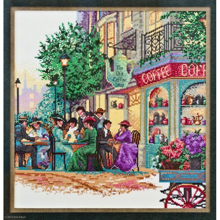 """Набор для вышивания Classic Design арт.4363 """"Старое кафе"""" 36х36 см"""