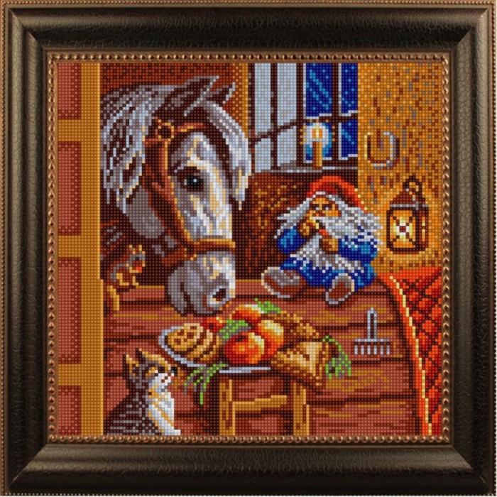 Рисунок на ткани (Бисер) КОНЁК арт. 1208 Угощение 25х25 см