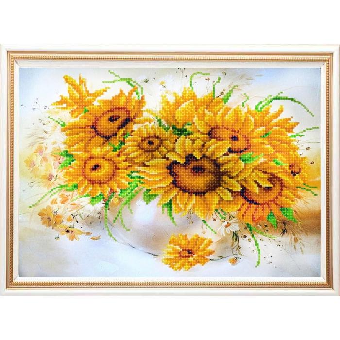 Рисунок на ткани (Бисер) КОНЁК арт. 9938 Солнечный букет 29х39 см