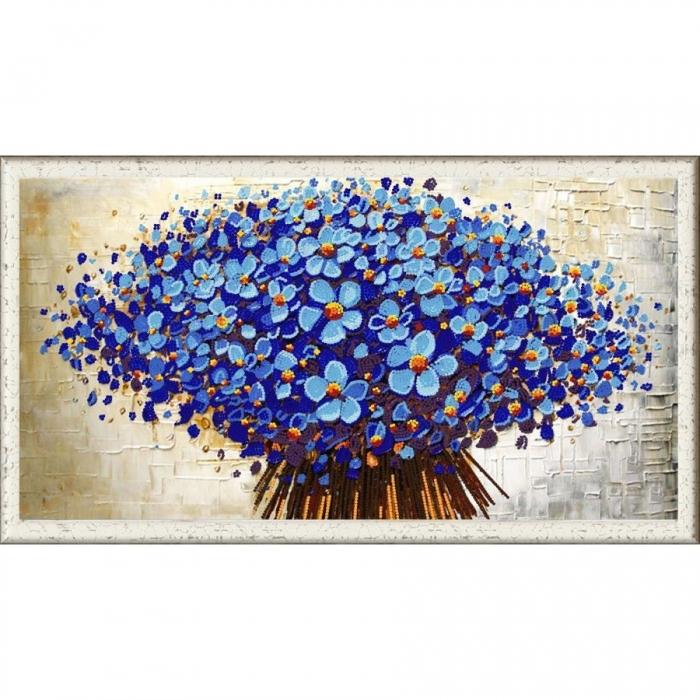 Рисунок на ткани (Бисер) КОНЁК арт. 8462 Цветочный декор 1 25х45 см