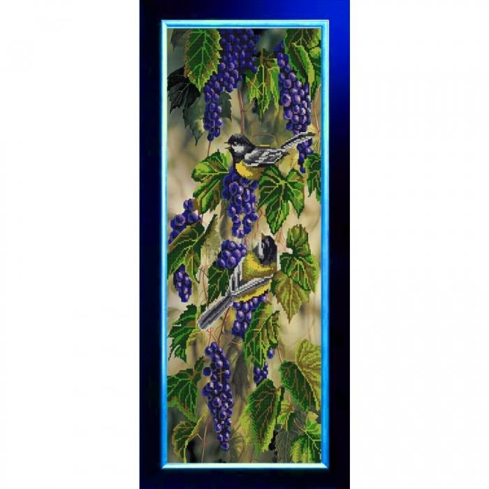 Рисунок на ткани (Бисер) КОНЁК арт. 9847 Птички-синички 25х65 см