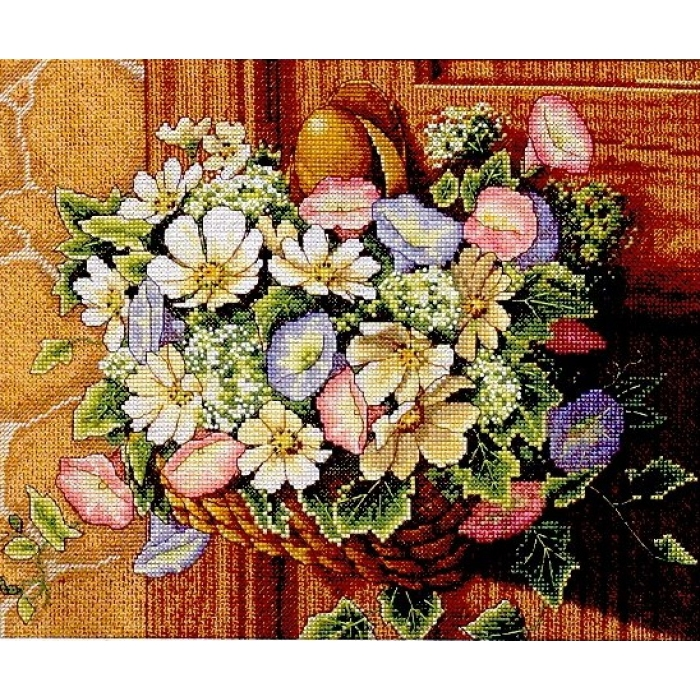 """Набор для вышивания Classic Design арт.4371 """"Цветы в корзине"""" 30х25 см"""