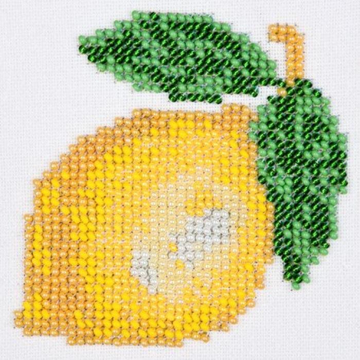 Набор для вышивания бисером LOUISE арт. L445 Лимон 11х11 см